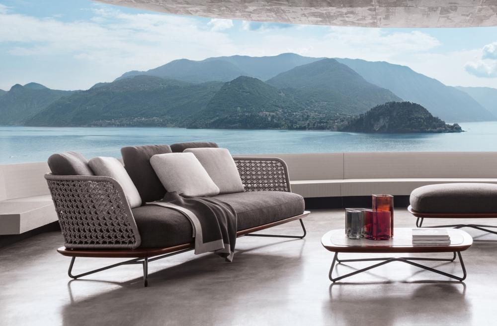 SOFA, OTTOMAN AND COFFEE TABLE RIVERA - DESIGNER RODOLFO DORDONI